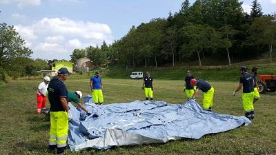 Volontari protezione  civile -  terremoto