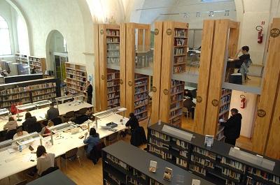 biblioteca delfini interno dallalto
