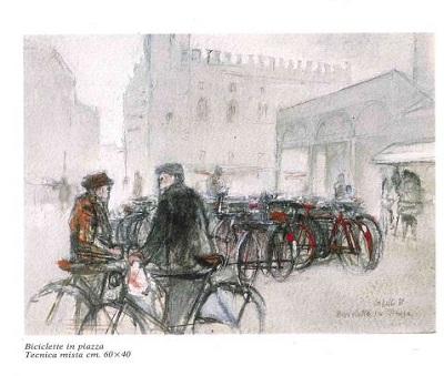 maratona-lettura-giovannicappelli_biciclette_in_piazza_tecnica_mista-da-archibibliocomuneferrara