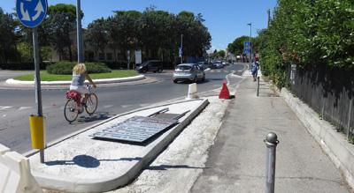 pista ciclabile via marecchiese a Rimini
