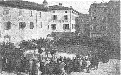Antica rappresentazione del Maggio in piazza a Villa Minozzo