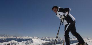 Alberto Tomba alla Partita della Stella 2016 sulla neve