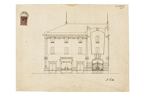 arturo-prati-prospetto-garage-gatti-fronte-di-via-emilia-est-1906