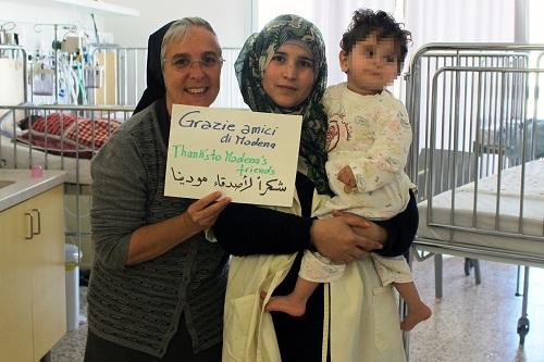 suor donatella ringraziamenti dal Caritas Baby Hospital di Betlemme