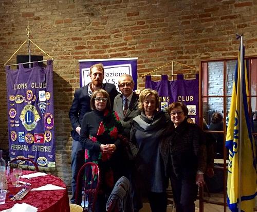 I quattro presidenti Lions e Carla Resca