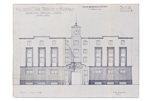 Manifattura dei Tabacchi Greggi- Prospetto- 1937