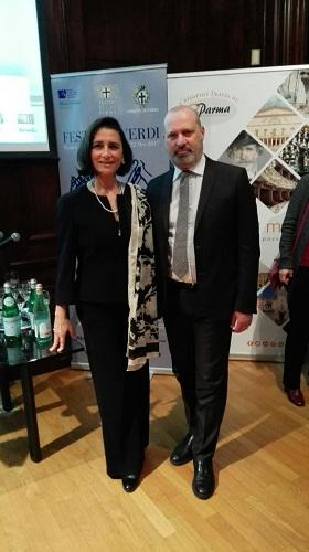 Anna Maria Meo e Stefano Bonaccini