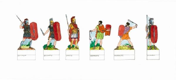 18 Soldati dell2019esercito romano. Disegno di Riccardo Merlo.