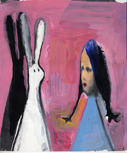 1- Gianluigi Toccafondo- Alice- copertina della rivista Linea dOmbra- 1995