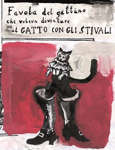 14- Gianluigi Toccafondo- Favola del gattino che voleva diventare il gatto con gli stivali- 2017- copertina