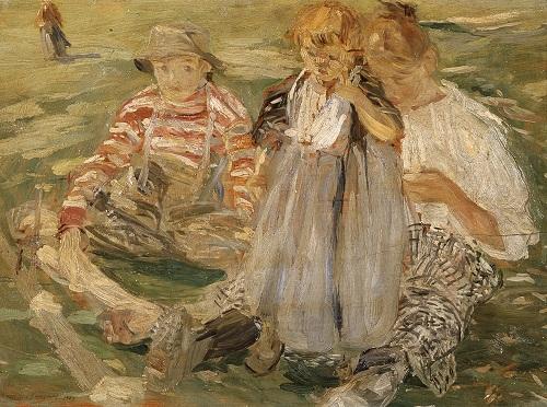 Giuseppe Graziosi- Bimbi sul prato- 1907. Modena- Gipsoteca Giuseppe Graziosi