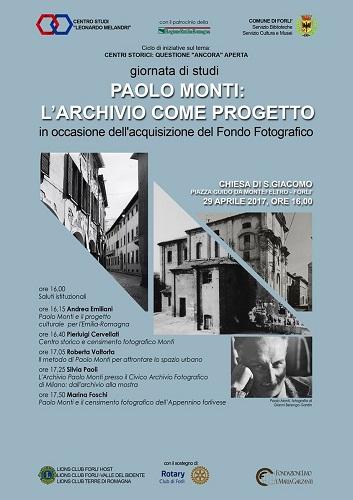 Paolo Monti larchivio come progetto