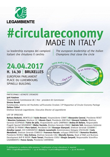 #circulareconomy made in Italy SPEECH LIST