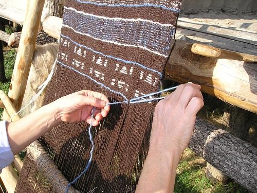 terramara archeo telaio tessitura