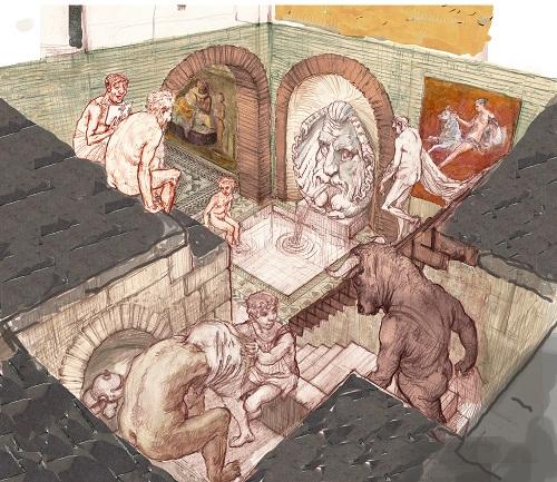 Bozzetto Eduardo Relero_Terme Palazzo della Provincia