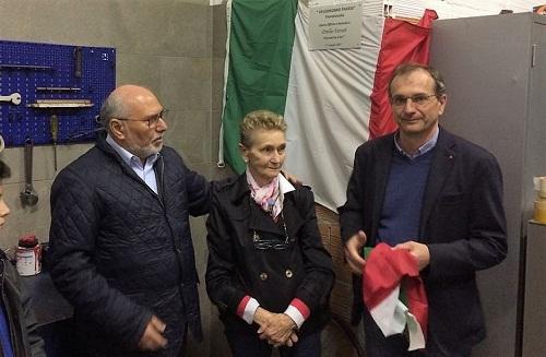 Inaugurazione targa per Emilio Ferrari