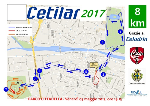 Percorso Cetilar Run 2017 -