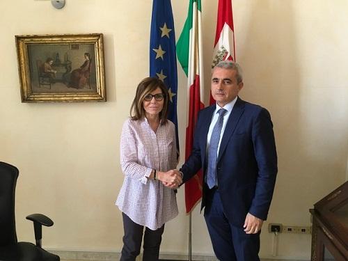 Incontro in Municipio tra il sindaco Patrizia Barbieri e il presidente della Provincia Francesco Rolleri