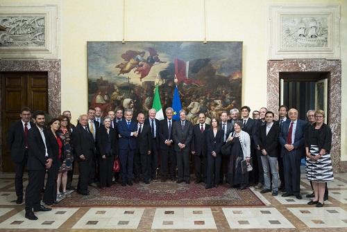 La visita della delegazione a Palazzo Chigi