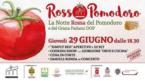 Piacenza: oggi alla Faggiola l¹oste Giorgione e il cantautore Daniele Ronda protagonisti di RossoPomodoro