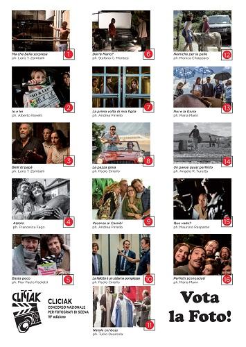 """""""Vota la foto"""": il pubblico sceglie lo scatto più bello realizzato sul set di una commedia"""