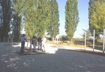 Attrezzi ginnici area verde via Cantimori