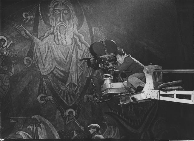 Sergej M. Ejzenstejn- foto dal set del film Ivan il Terribile- 1943