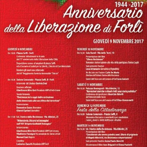 anniversario della liberazione di Forlì