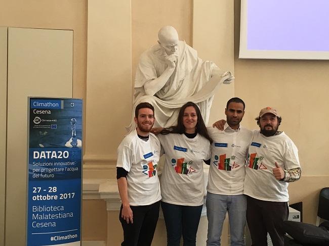 i vincitori team NAIADE_climathon cesena2017