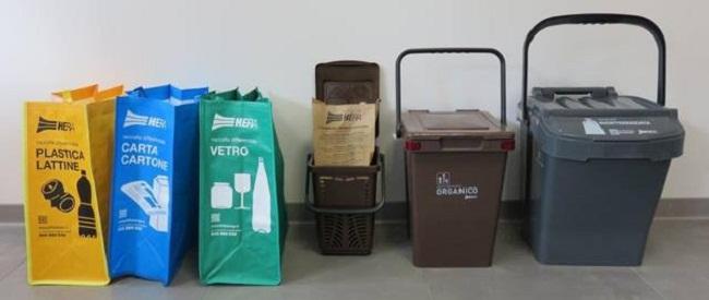 kit per raccolta differenziata
