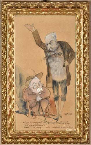 46. Caricatura di Alfredo Oriani e Berti