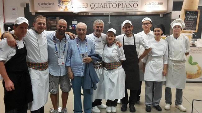 Gualtiero Marchesi a Quartopiano presso Milano Expo 2015