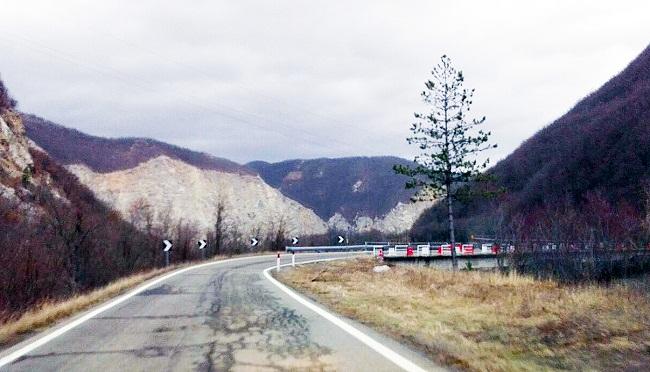 Il ponte sul Rio Sologno oggi
