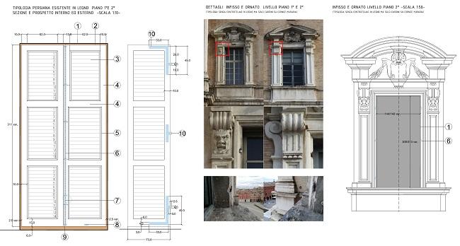 Palazzo Ducale - dettaglio progetto