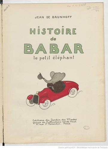l%u2019Histoire de Babar le petit éléphant