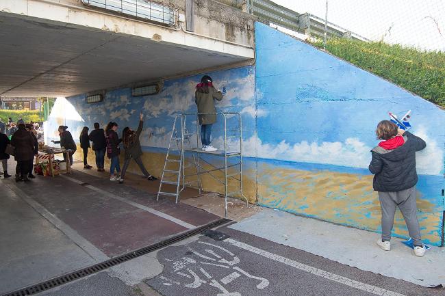 murales nel sottopasso 1