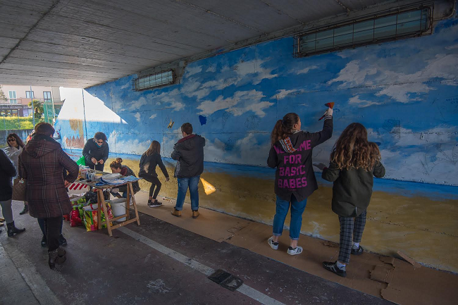 murales nel sottopasso