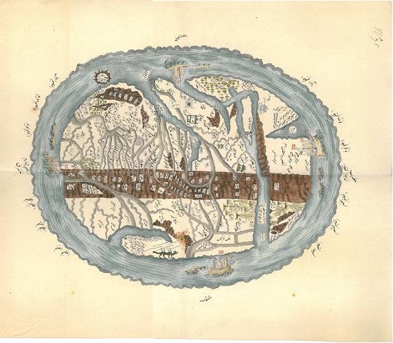A172carta del mondo manoscritta