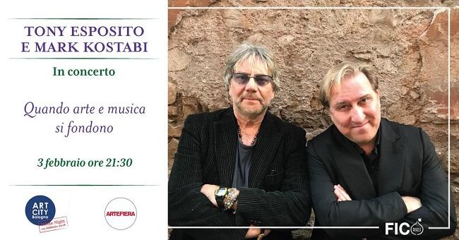 Tony Esposito e Mark Kostabi