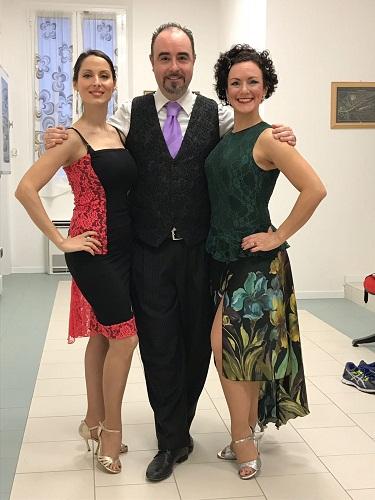 25.03.18 AMA A COMACCHIO - da sx Giulia Casadio, Stefano Tebaldi e Emanuela Iannice
