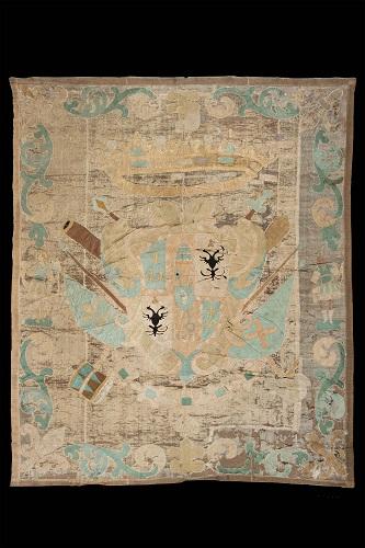 manifattura europea- drappo con stemma estese- fine XVII- inizio XVIII