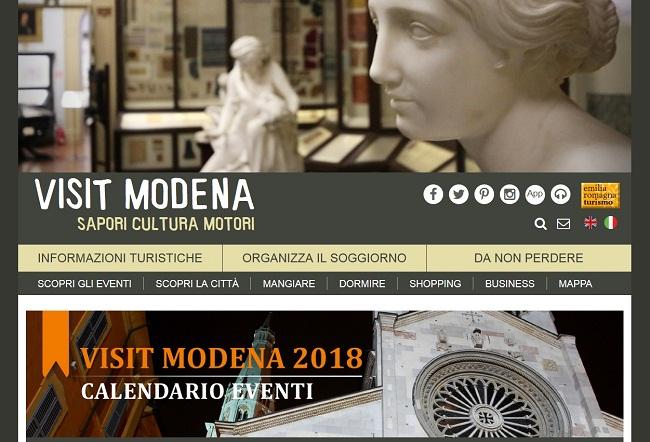 home page del sito visitmodena
