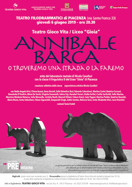 Annibale Barca al Teatro Filodrammatici di Piacenza