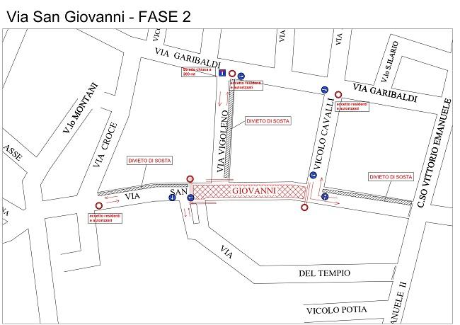 Piacenza, lavori di riqualificazione della pavimentazione di via San Giovanni